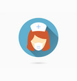 nurse icon for graphic and web design vector image vector image
