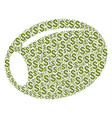 olive collage of dollar vector image vector image