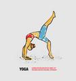 one leg bridge yoga pose outline woman vector image vector image