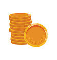 pile of golden coins hidden treasure design vector image