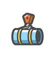pipe laying crane icon cartoon vector image