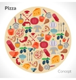 Pizza Circle Concept vector image vector image