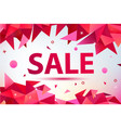 promo sale poster banner geometric facet vector image vector image