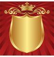 red and gold background crown vector image vector image