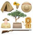 Safari Icons Set vector image vector image
