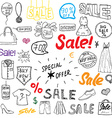 Sale signs and price discount tags shopping vector image
