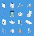 sanitary engineering isometric icons vector image vector image