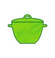 saucepan simple sign lemon scribble icon vector image vector image