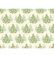 Seamless Pattern with Evergreen Christmas Tree vector image vector image