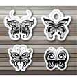 Set of butterflies EPS10 vector image vector image