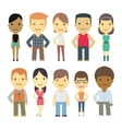 set of urban characters vector image