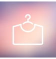 Shirt on hanger thin line icon vector image vector image