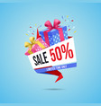 shopping sale gift web banner template stores vector image