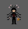 spider halloween costume vector image vector image