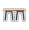 table icon image vector image vector image