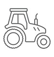 tractor thin line icon farming and agriculture vector image