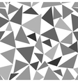 Triangle gray chaotic seamless pattern vector image