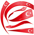 turkey flag set vector image vector image