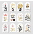 Valentines Day Callygraphic Floral set - hand vector image vector image