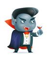 vampire halloween children costume kid masquerade vector image vector image