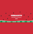 watermelon slice horizontal banner for ferragosto vector image