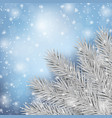 winter fir tree and snow natural template vector image vector image