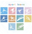 Winter games icon set vector image