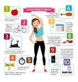 Woman healthy lifestyle infographics vector image vector image