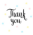 thank you handwritten card vector image