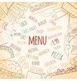 Fast food card vector image