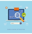 Optimization and web elements vector image