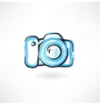 professional camera grunge icon vector image