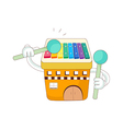 A view of xylophone vector image vector image