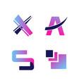 abstract modern letter logo design vector image vector image