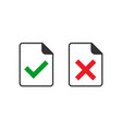 accept document icon in flat style reject