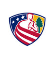 american rugby union player badge vector image vector image