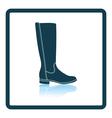Autumn woman boot icon vector image vector image