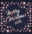 background with merry christmas letternig vector image vector image