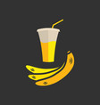 banana juice banner or menu vector image vector image