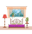 bedroom interior colorful vector image vector image