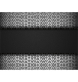 Black leather panel on black mesh landscape vector image vector image
