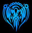 blue emblem with magical spirit vector image