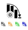 cardano epic fail chart icon vector image vector image