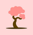 cartoon asian blooming tree graphic vector image