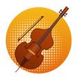cello icon violin music instruments vector image vector image