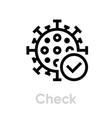 check coronavirus icon editable line vector image