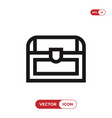 chest icon vector image vector image