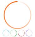 circular preloaders step progress indicators set vector image
