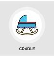 Cradle Flat Icon vector image