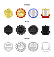 design of emblem and badge logo collection vector image vector image
